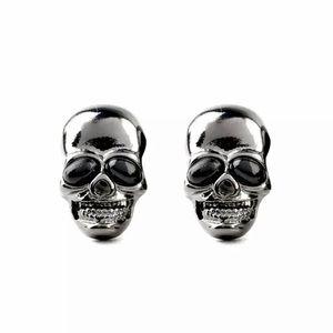 Jewelry - 💀Gunmetal skull goth punk stud earrings NWOT💀